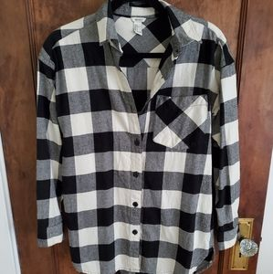 Forever 21 buffalo plaid button up